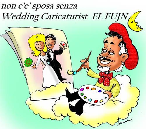 el fujn wedding caricaturis