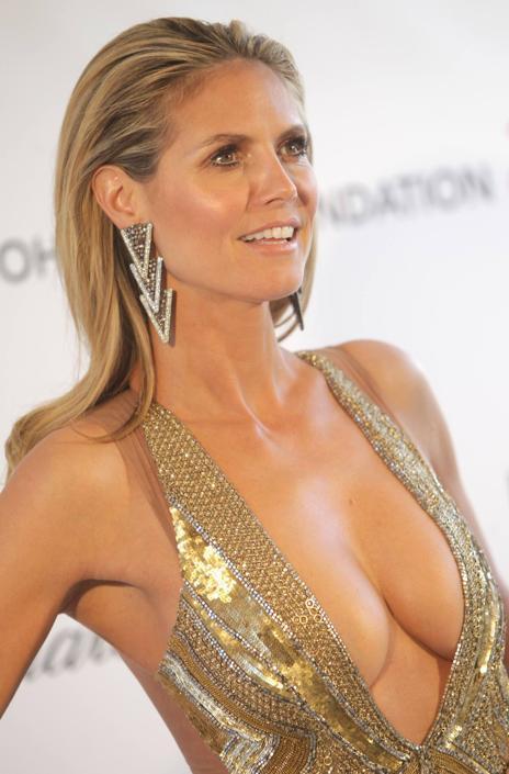 Ha trascorso momenti di terrore la bella top model Heidi Klum , in