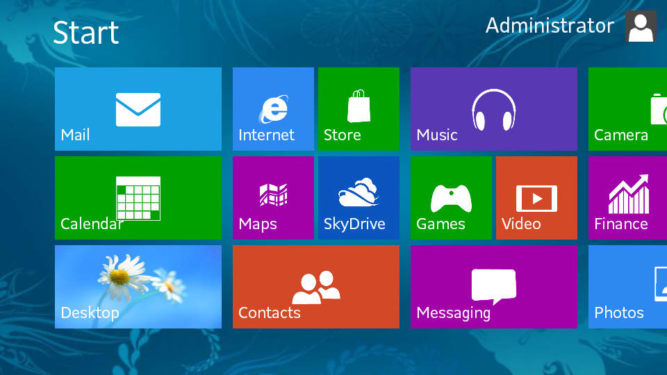 Fake Windows 8 Start