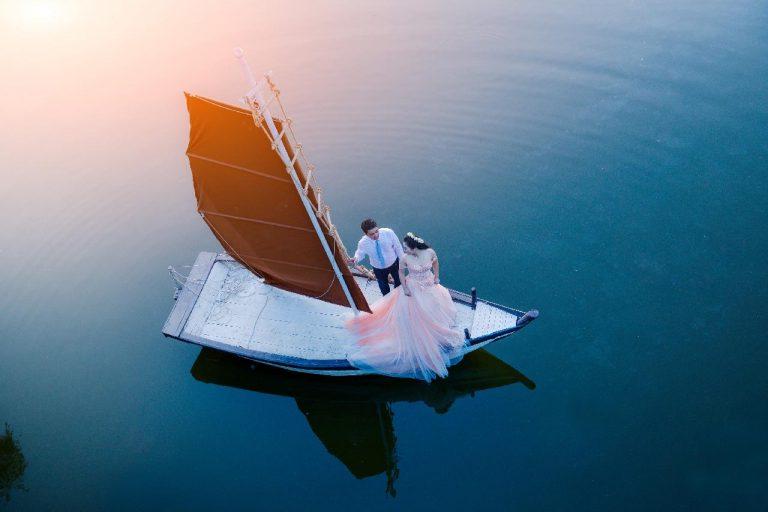 nozze in barca a vela
