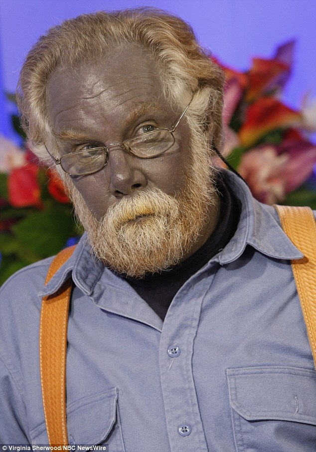 La maschera per problema affronta la pelle con una fotografia