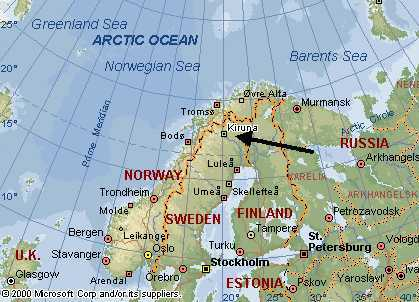 Kiruna map