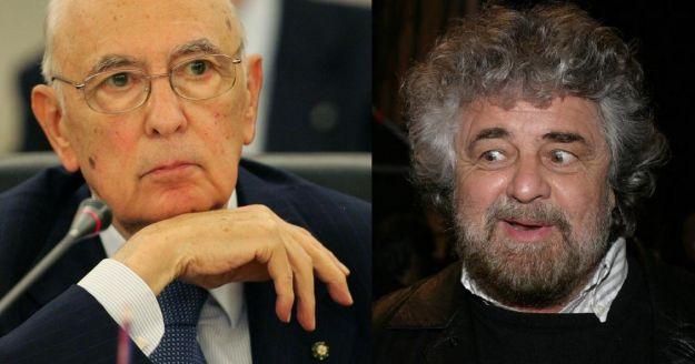 Napolitano contro Grillo