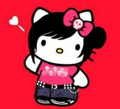 emo cartoon hello kitty