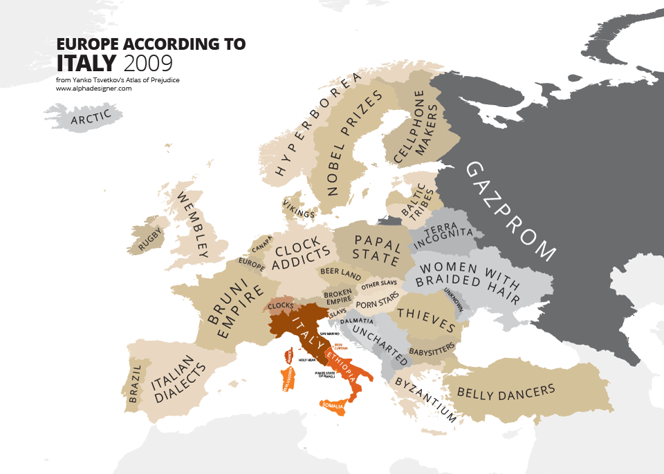 europe according to italy