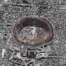 Satellite Image of The Citadel, Aleppo, Syria