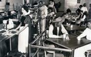 Dipendenti di Disneyland in una caffetteria, 1961
