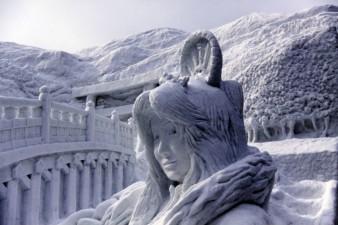 Sapporo-Giappone-scultura-in-neve-