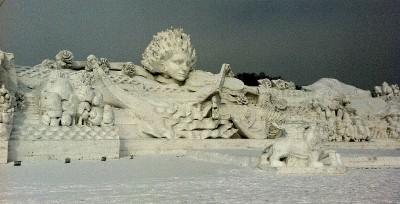 Scultura-di-neve-ad-Harbin-in-Cina