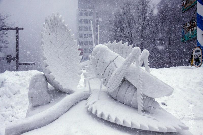 cavalletta-con-foglia-in-neve-scultura-in-Giappone-