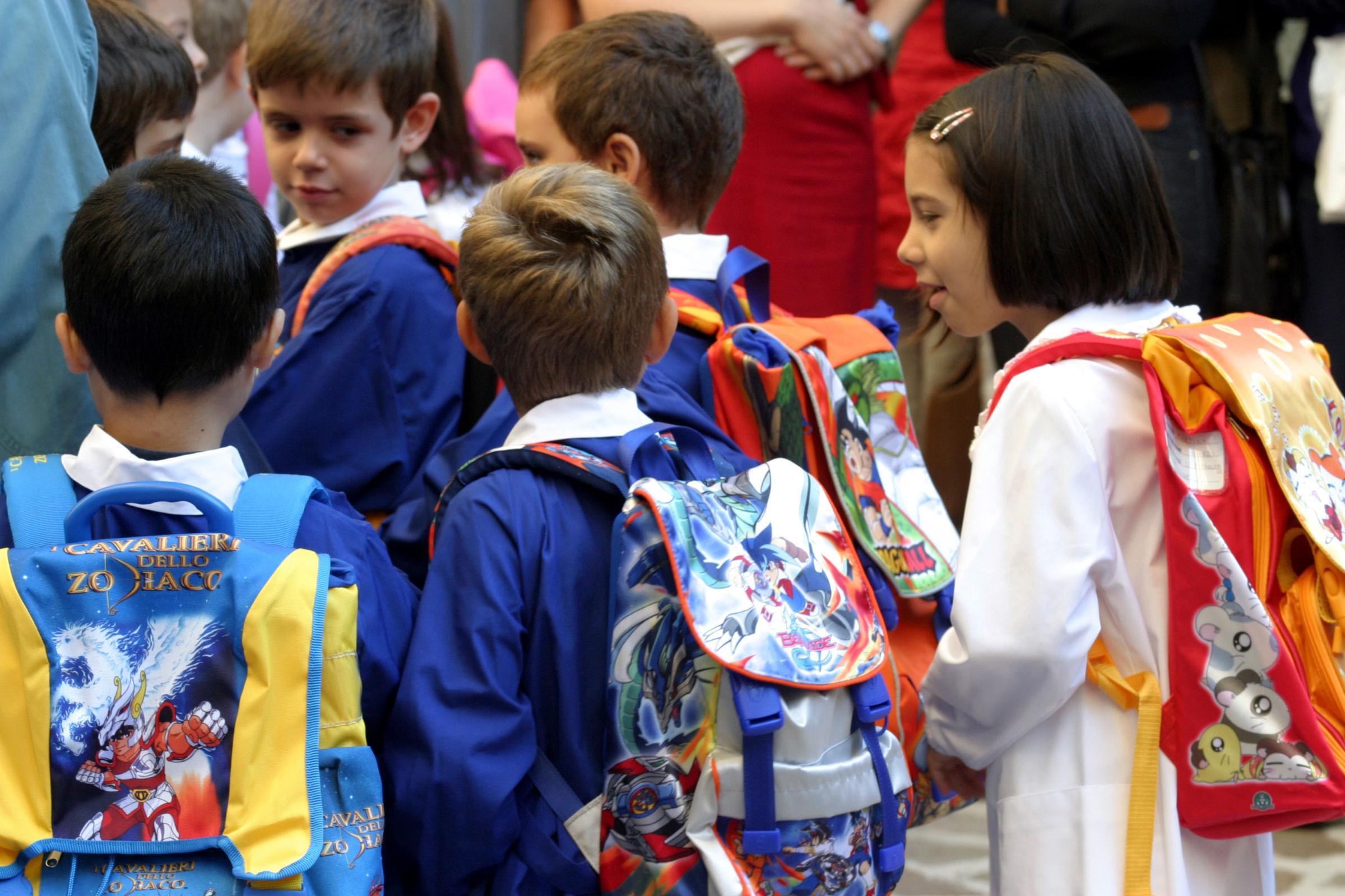 scuola bambini zaino