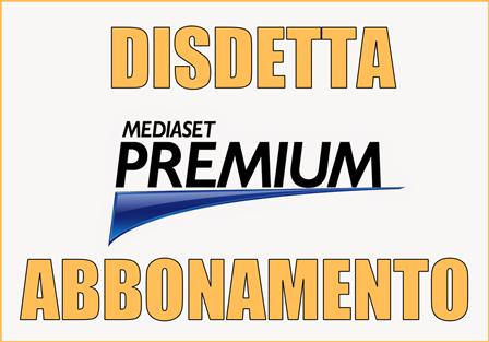 Come fare la disdetta del contratto Mediaset Premium