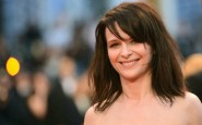 French actress Juliette Binoche smiles a