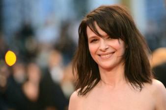 French actress Juliette Binoche smiles a