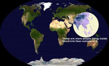 Densità di popolazione nel mondo