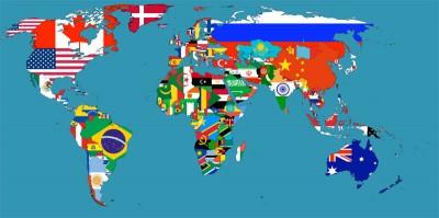 Le bandiere nazione per nazione