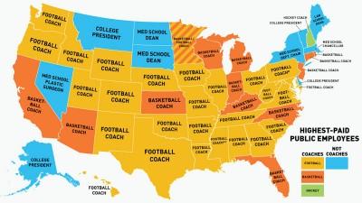 La mappa dei mestieri più pagati negli USA