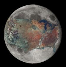 Gli USA dalla Luna