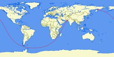 La rotta navale più lunga che potresti fare sul pianeta