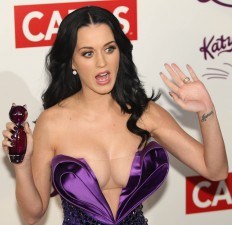 Purple carpet party in honor of Katy Perry in Mexico City