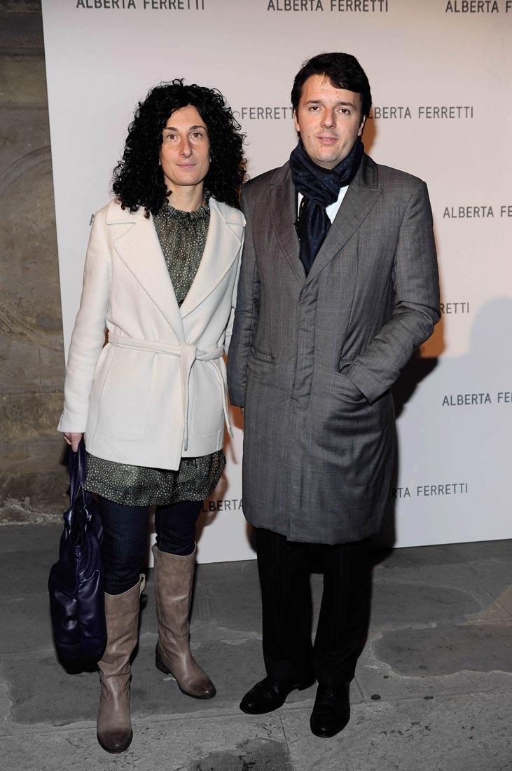 00 Matteo  Renzi  Mayor  of  Florence  and  his  wife  Agnese  Renzi