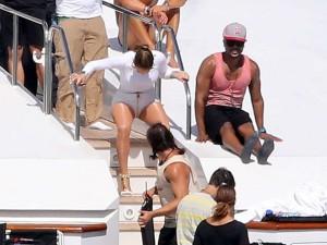 Jennifer Lopez Hot In White Shorts On A Yacht 27