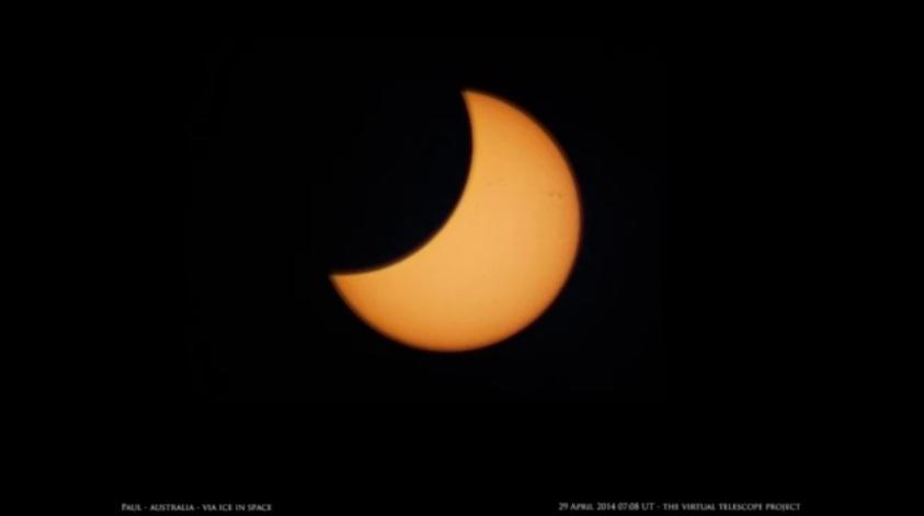 Eclissi prossima al picco