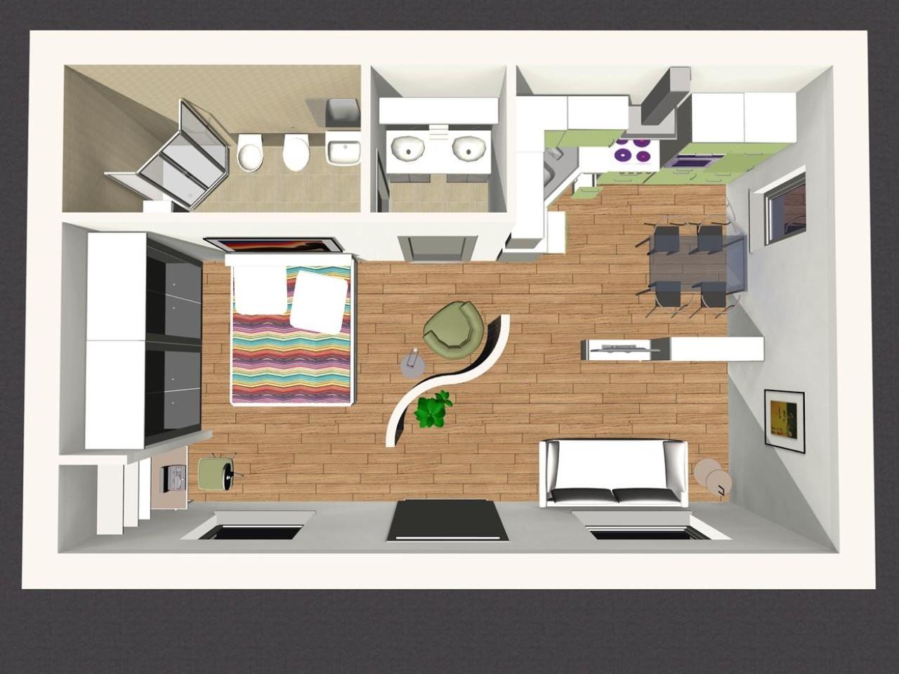 Come progettare un buon monolocale for Come progettare mobili