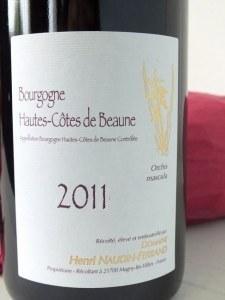 Bourgogne Hautes – Côtes de Beaune Orchis Mascula 2011, Henri Naudin – Ferrand