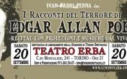 """20 SETTEMBRE: AL TEATRO ERBA DI TORINO """"I RACCONTI DEL TERRORE"""" DI EDGAR ALLAN POE CON LA COMPAGNIA LEWIS&CLARK"""