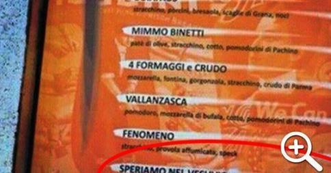 Pizza razzista in Liguria, si chiama Speriamo nel Vesuvio
