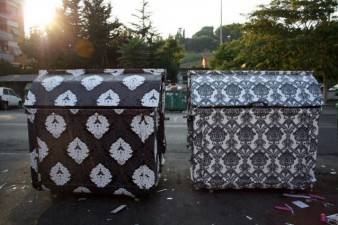 Wallpapered dumpsters Finley 638x425