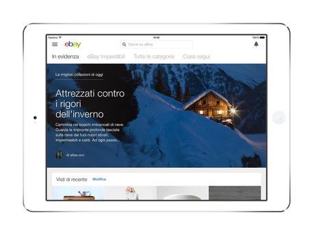 eBay lancia la nuova app per iPad