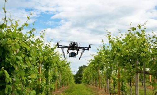 Il drone affianca i mezzi agricoli per nebulizzare le risaie