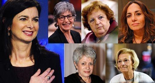 Candidate donna presidente della Repubblica