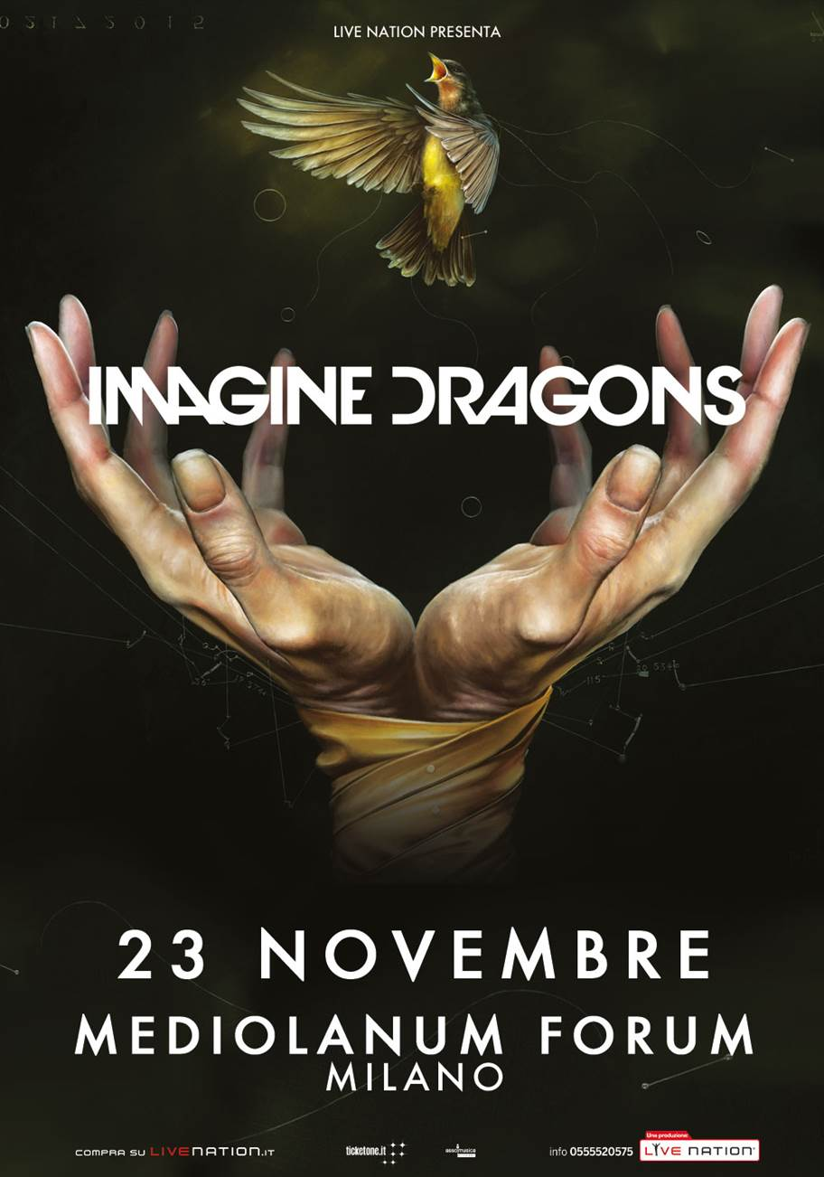 "Imagine Dragons il tour europeo di ""Smoke + Mirrors"", unica data a Milano!"