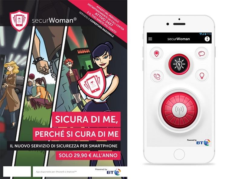 Caratteristiche App securwoman