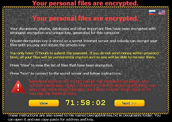 Come funziona cbt-locker virus che chiede riscatto