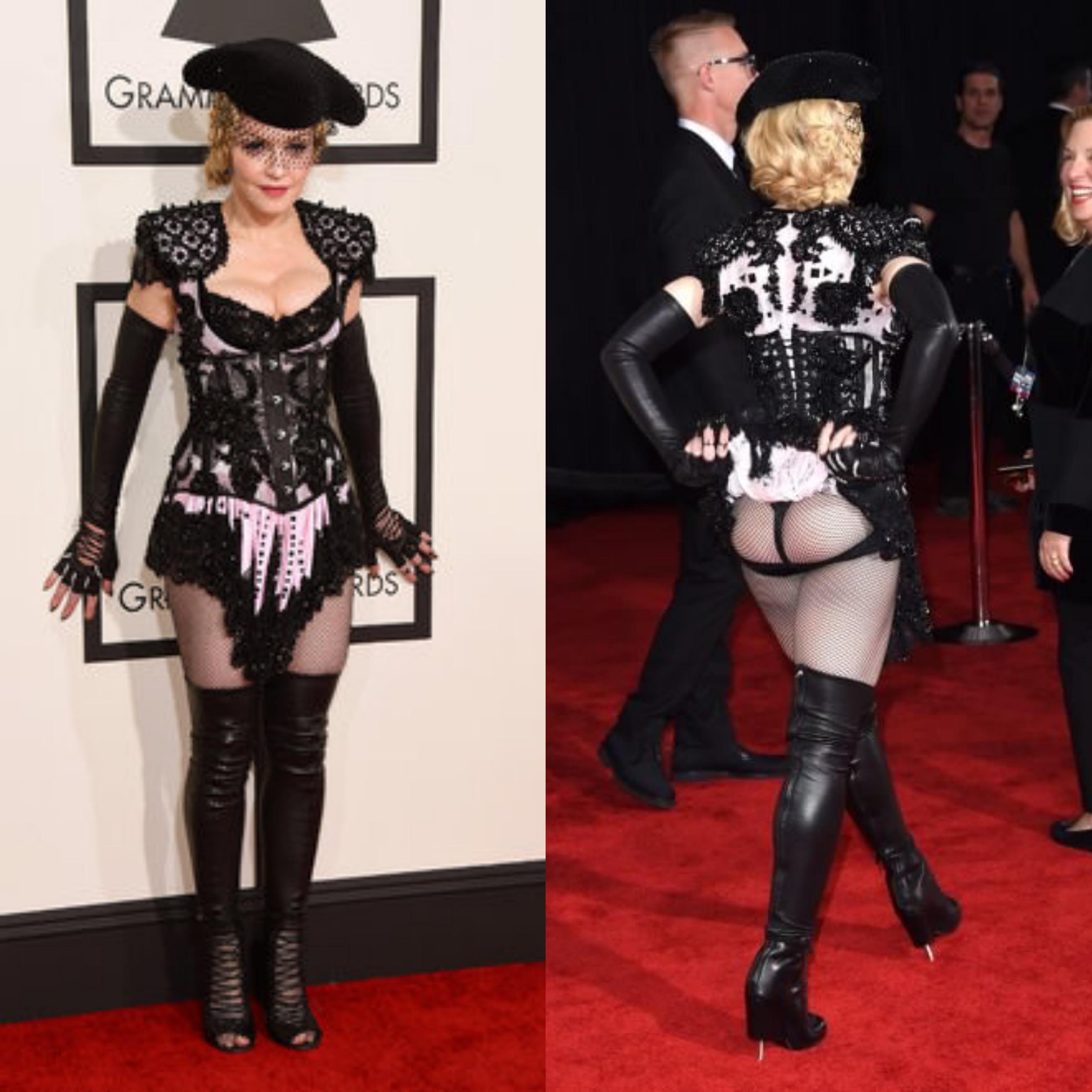 Grammy Awards, Madonna mostra il perizoma per provocazione