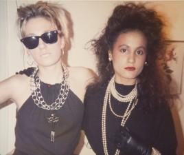 Jane Vintner (L) , Tess Christian ® London 1982 at home (aged 19)
