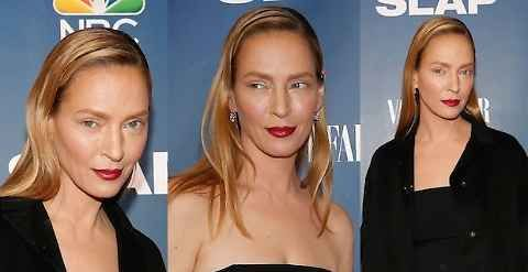 Ritocchino Uma Thurman presentazione serie TV The Slap
