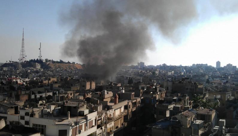 Bombardamento terroristico su Aleppo, Siria