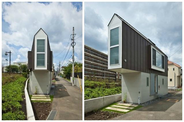 casa triangolare giappone