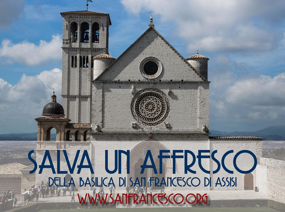 come fare una donazione salva-un-affresco Assisi