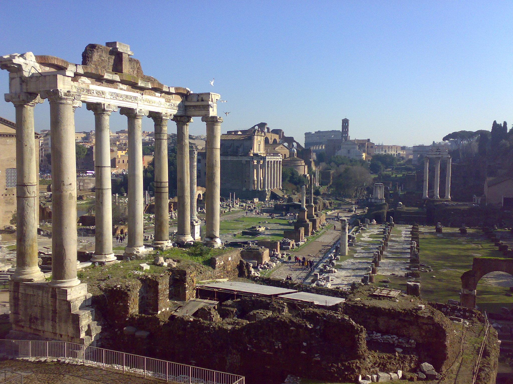 Roma Fori Imperiali illuminazione inaugurazione data