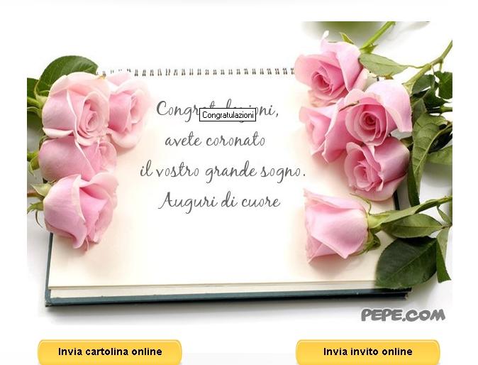 Auguri Matrimonio Bibbia : Auguri originali coppia neo sposi notizie