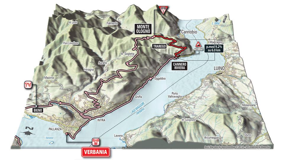 Giro d'Italia 28 maggio Melide-Verbania