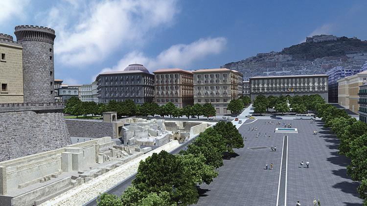 Strade chiuse inaugurazione stazione metro Municipio Napoli 16 maggio 2015