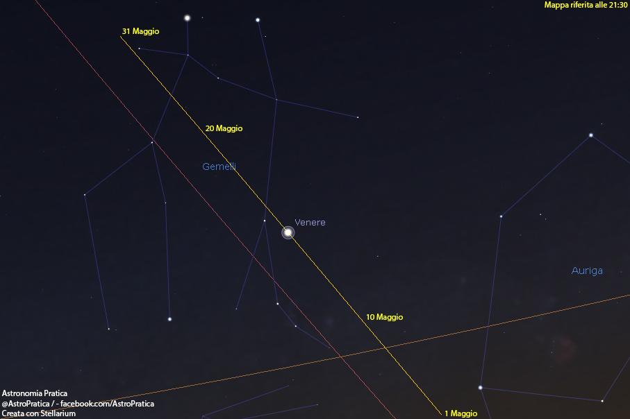 congiunzione Mercurio-Sole 30 maggio
