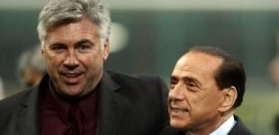 """Berlusconi: """"Se il Real lo libera, Ancelotti tornerà al Milan"""""""